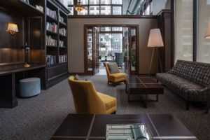 Philadelphia apartment resident lounge ideal for working remotely and relaxing