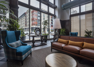 Apartments for rent in Center City originally a showroom and assembly plant for Packard Motors