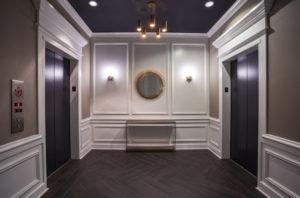 Elegant Packard Motor Car Building lobby and elevators
