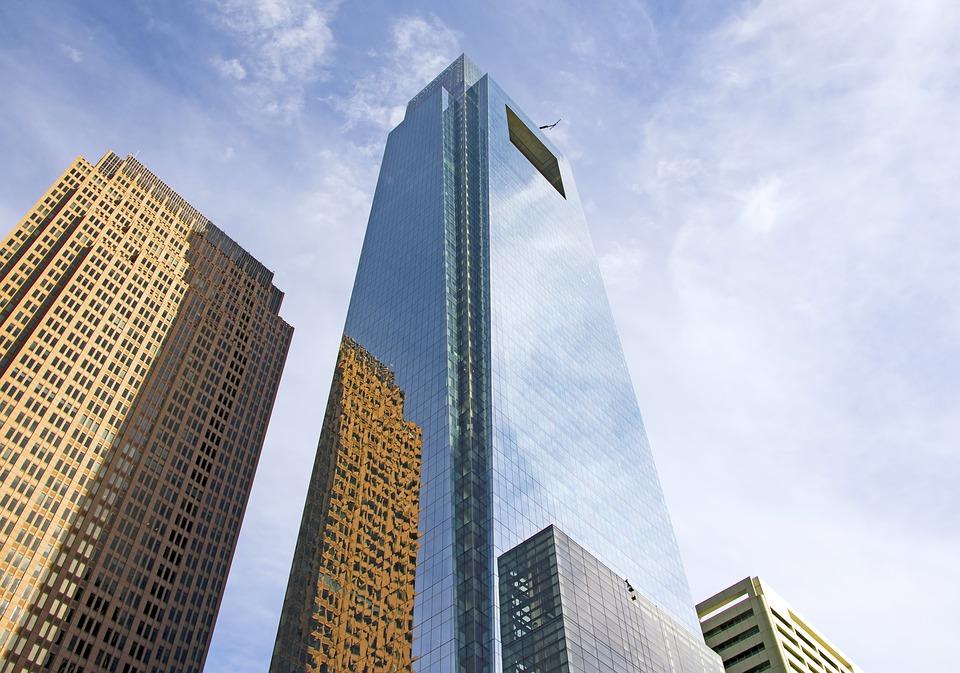 The Comcast Center skyscraper in Center City, Philadelphia